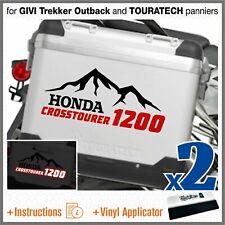 2x Honda VFR 1200 Crosstourer Black/Red for GIVI Trekker Outback and TOURATECH