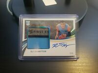 2020 Immaculate Collection RJ HAMPTON Rookie Patch Auto RPA 1/5 Blue Foil