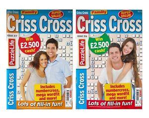 2 x Family Crisscross Puzzle Books Magazines Fun Puzzles UK Seller