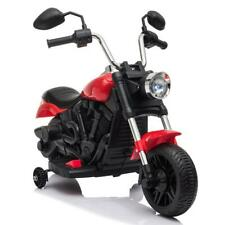 Kids Ride on Toy 2 Wheel Motorcycle with Trainer Wheels Battery Operated Red