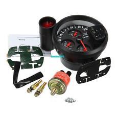 4 in 1 LED Auto Tachimetro Contagiri Manometro Olio Pressione Olio Acqua Temp