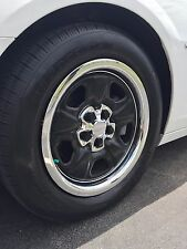 "NEW 2010-2013 Chevy CAMARO 18"" Steel Wheel CHROME Center Caps & Trim Rings SET"