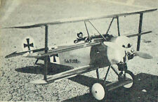 "Model Airplane Plans (UC): Fokker DR.1 Triplane 1/8 Scale 35½""ws for .40-.60"