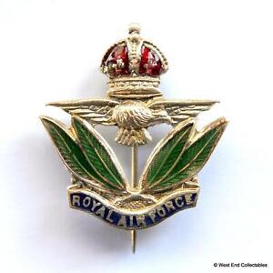 1930s WW2 RAF Sweetheart Brooch Badge Enamel Kings Crown- Royal Air Force #A005