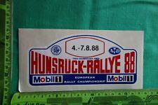 Alter Aufkleber HUNSRÜCK-RALLYE 1988 Mobil 1 STH AvD