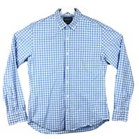 Bonobos Slim Fit Blue White Plaid Long Sleeve Button Up Dress Shirt Mens M
