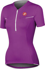 Castelli Women's Subito Women's Short Sleeve Cycling Jersey Purple