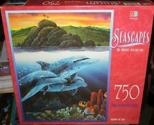 MB    *SEASCAPES ~ DOLPHINS OFF ALAU*  750  Piece Jigsaw Puzzle  SEALED