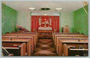 Omaha Nebraska~St Luke's Chapel Interior~Memorial Hospital~Vintage Postcard