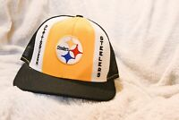 Vintage 80s Pittsburgh Steelers Trucker Hat Nfl Football Snapback