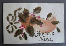JOYEUX NOEL MERRY CHRISTMAS. SABOT. CARTE POSTALE ANCIENNE.