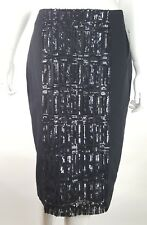 Worthington Women Sz 6 Black Sequin Front Pencil Skirt Lined NWT Knee Length
