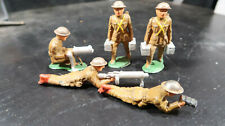 Barclay Lead Soldier Machine GUnner Spotter Ammo Carriers Lot