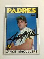 F66319 In Person Auto/Signed Baseball Card LANCE MCCULLERS PADRES