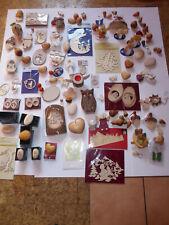 Einmaliges Angebot 100 Tlg Überraschungspacket Holz Artikel Anhänger Deko uswNEU