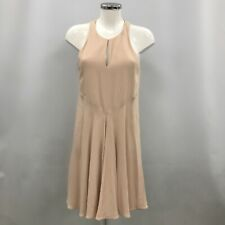 Stella McCartney Sleeveless Dress UK 12 IT 44 Nude Beige Racer Back Flare 022824