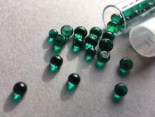 30g Bullseye COE 90 Glass Fusing Emerald Green Frit Ball Dots Reusable Tubes
