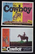 The COWBOY Lobby card set TEX RITTER 1954