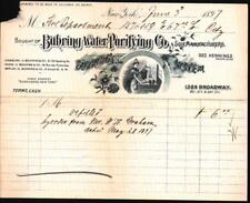 1897 Buhring Water Purifying Co - New York - Geo Hennings - EX RARE Letter Head