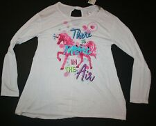 New Justice Girls Top Glitter 6 7 10 12 Unicorn Magic In the Air Flip Sequins