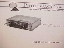 1975 AUDIOVOX CASSETTE TAPE PLAYER/AM-FM/FM MPLX RADIO SERVICE SHOP MANUAL C-984