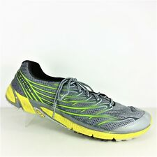 Merrell Bare Access 4 Mens Gray And Yellow Athletic Shoes Vibram Soles Size 14