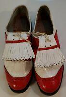 Vintage Mens/Women's Fairway By Avon Golf Shoes Red/White