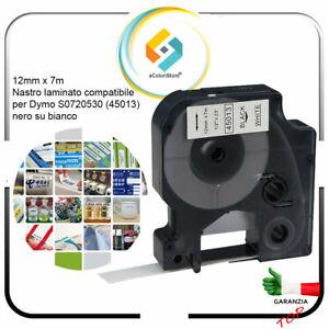 Etichette adesive per cavi nastro dymo D1 45013 Labermanager 160 280 12mm x 7m