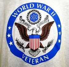 Vintage 80's 90's World War II Veteran 50/50 T-Shirt Men's Large WWII Vet