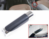 Auto Car Carbon Fiber Style Hand Brake Handle Hand Break Protect Cover Metal
