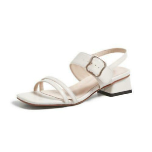 Women's Summer Beach Buckle Sandals Straps Trendy Square Toes Casual Shoes Comfy