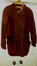 Womens S Gently Pre-Owned VTG 80's Suede Leather g4000 Fashion Lined Filled Coat