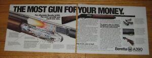 1995 Beretta A390 Silver Mallard Shotgun Ad - The most gun for your money