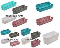 New 6x Plastic Stackable Basket Multi-Purpose Storage Basket Home Office
