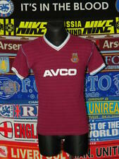 5/5 West Ham United adults S 1985 score draw football shirt jersey trikot