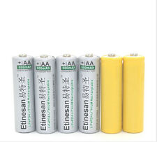 4pcs Etinesan 600mAh  lifepo4 3.2v AA Rechargeable Battery + 2pcs dummy battery