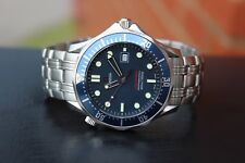 Omega Seamaster Pro SMP 300M 2221.80 Full Size Blue Dial Bond Quartz Men's Watch