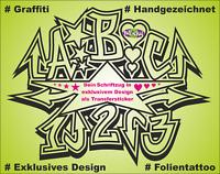 Graffiti Wunschtext Wunschname Handmade Schriftzug Beschriftung Sticker Aufklebe