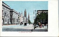 5th Avenue Carriages Undivided 1905 New York City Postcard