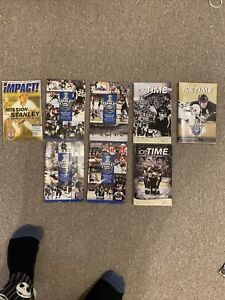 Lot Of 8 NHL Stanley Cup Playoff Programs