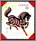 CANADA 2002 CANADIAN CHINESE HOROSCOPE YEAR OF HORSE FV FACE 48 CENT MNH STAMP