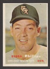 1957  TOPPS  BASEBALL  # 395  BUBBA PHILLIPS   INV  J2639