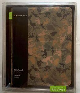 CASE-MATE Book Style Canvas Folio Case -Slim Stand for iPad 2/3/4