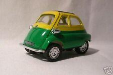 BMW ISETTA verde-amarillo Coche Modelo 1 :3 8 METAL