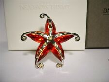 SWAROVSKI CRYSTAL CREMONA STARFISH BROOCH 626211 RETIRED MIB