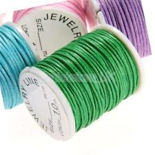 10 Rolls 10m 1mm Cotton Cords String Ropes for DIY Necklace Crafts Makings