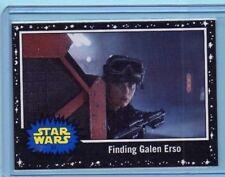 2017 Topps The Last Jedi Card Finding Galen Erso #63 Black Starfield INV0106