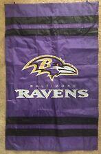 "Baltimore Ravens decorative garden Flag 28"" x 44"" Nfl .double sided"