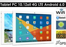 64gb 10.1 pollici Dual SIM, Fotocamera WLAN, 4g, LTE, GPS Android 6.0, Tablet PC, Argento, HD
