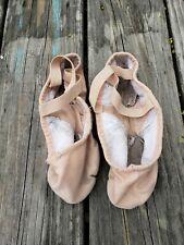 Girls Fabric Split Sole Ballet Shoes ~ Size 4